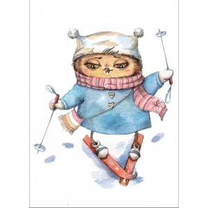 «Лыжница» Инги Пальцер  30*40 см