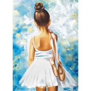 Маленькая балерина  30*40 см