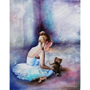 «Балерина. Первые шаги» Ольги Легейды  30*40 см