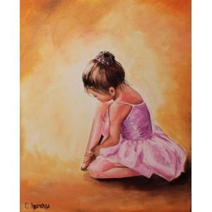 «Балерина-малышка» Ольги Легейды  30*40 см