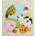 """""""Ферма"""" , картина в стиле пэчворк"""