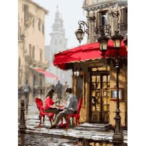 «Влюбленные в кафе» Ричарда Макнейла  30*40 см.