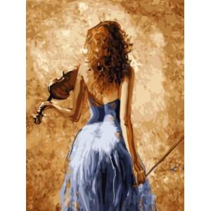 «Девушка со скрипкой» Лены Сотсковой  30*40 см.