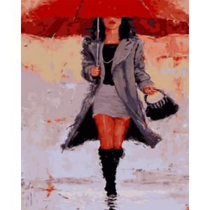 «Под красным зонтом» 40*50 см.