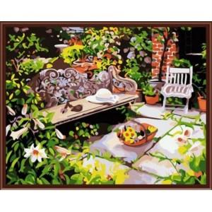 «Уютный дворик» 40*50 см.