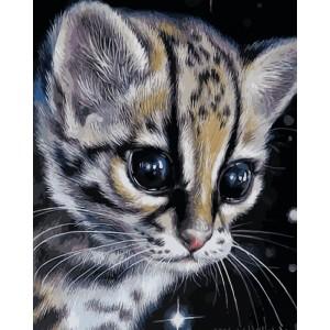 Детеныш леопарда 30*40 см.