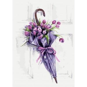 «Цветочный зонт» Татьяны Желтышевой 30*40 см.