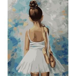 Маленькая балерина  40*50 см.