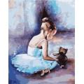 «Балерина. Первые шаги» Ольги Легейды 40*50 см.
