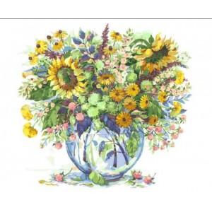 «Подсолнухи в вазе» Елены Вавилиной 40*50 см.