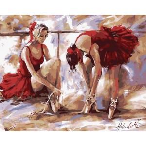 «Балерины в красном» Хелен Коттл 40*50 см.