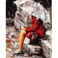 «Девушка на крыльце» Эмерико Тота  40*50 см.