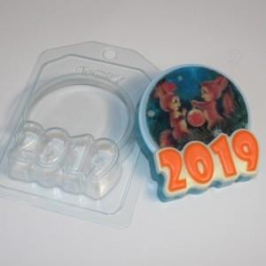 2019 - Круг под водорастворимку, форма для мыла пластиковая