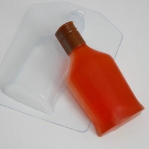 Бутылка коньяка, форма для мыла пластиковая