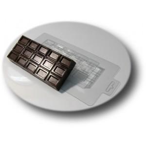 Большая шоколадка, форма для мыла и массажных плиток пластиковая