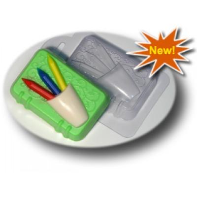 Блокнот с карандашами, форма для мыла пластиковая