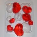 Сердечки-поцелуйчики, форма для мыла пластиковая