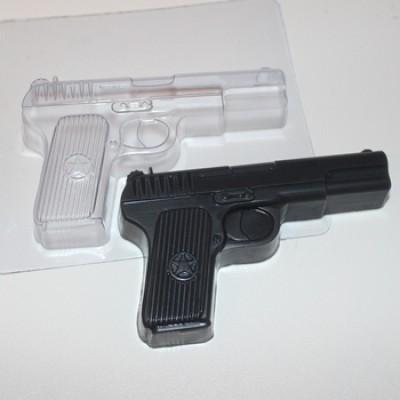 Пистолет, форма для мыла пластиковая