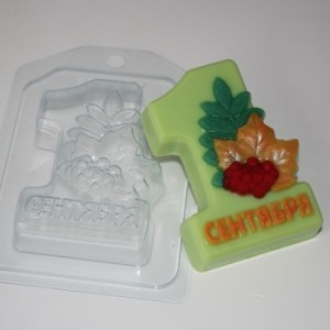 1 Сентября - Осенний букет, форма для мыла пластиковая