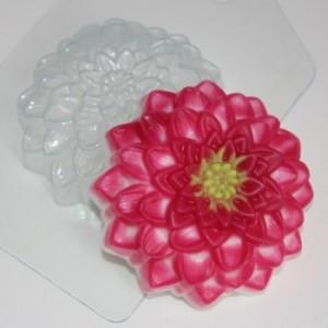 Георгин, форма для мыла пластиковая