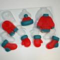 Вязаные МИНИ, форма для мыла пластиковая