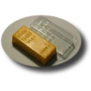 Золотой слиток, форма для мыла пластиковая