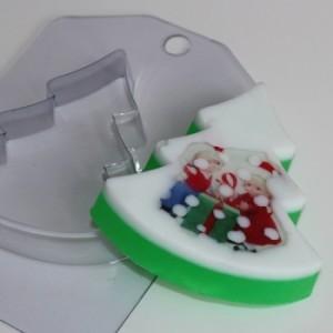 Елка плоская, форма для мыла пластиковая