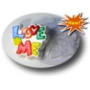 Love me, форма для мыла пластиковая