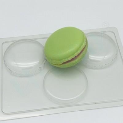 Макарон D70мм, форма для мыла пластиковая