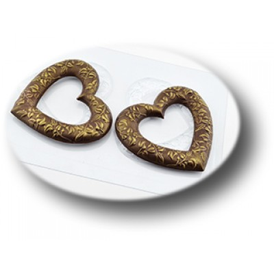 Большие сердечные кольца, форма для шоколада пластиковая