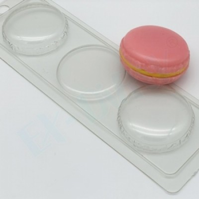 Макарон D52мм, форма для мыла пластиковая