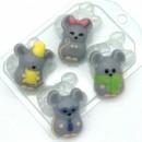 Мыши МИНИ, форма для мыла пластиковая