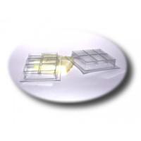Шоколадка, форма для мыла и плиток пластиковая