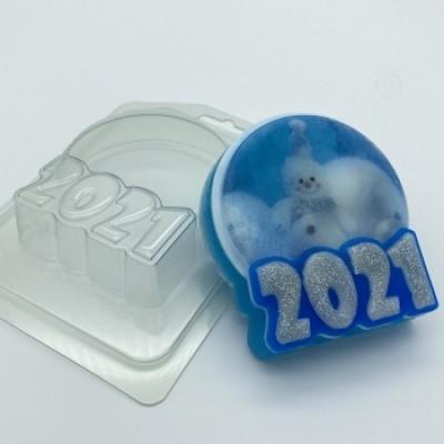 2021 - Круг под водорастворимку, форма для мыла пластиковая