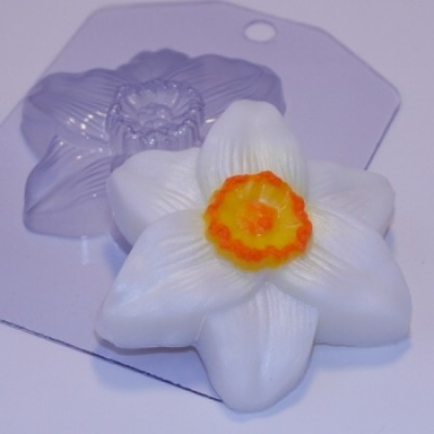 Нарцисс большой, форма для мыла пластиковая