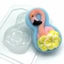 8 марта - Фламинго с цветами, форма для мыла пластиковая