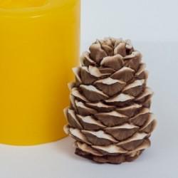 Сосновая шишка 3D, форма для мыла силиконовая