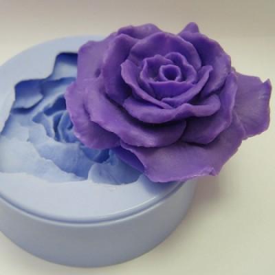 Роза 2D, форма для мыла силиконовая