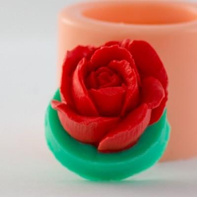 Розочка, форма для мыла силиконовая