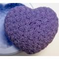 Сердце в розах 2D, форма для мыла силиконовая