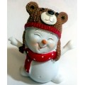 Снеговик в шапке 1 3D, форма для мыла силиконовая
