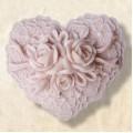 Сердце 2D, форма для мыла силиконовая