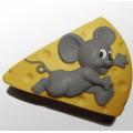 Мышка и сыр 2D, форма для мыла силиконовая