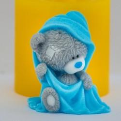 Тедди в полотенце 3D, форма для мыла силиконовая
