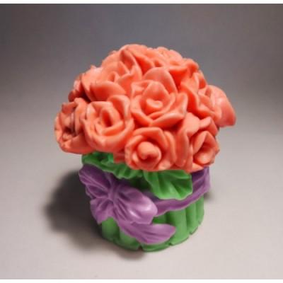 Букетик с бантиком 3D, форма для мыла силиконовая