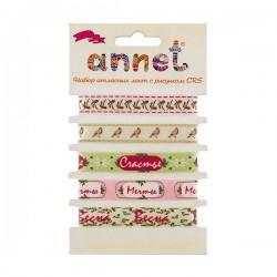 """""""Весна. Мечты."""", набор из 5 атласных лент 12 мм , """"Annet"""""""