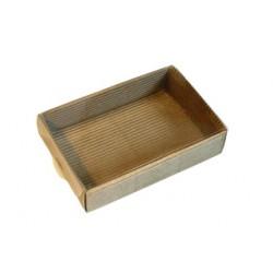 Подарочная коробка картонная с прозрачной крышкой , 15*10*3 см