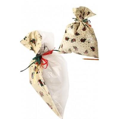 Пакет п/метал. Рождественский цветок 40х23см, комплект из 3 шт.