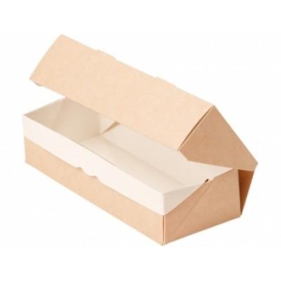 Коробочка 17x7x4см. с прозрачным окошком, крафт