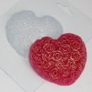 Сердце из роз, форма для мыла пластиковая